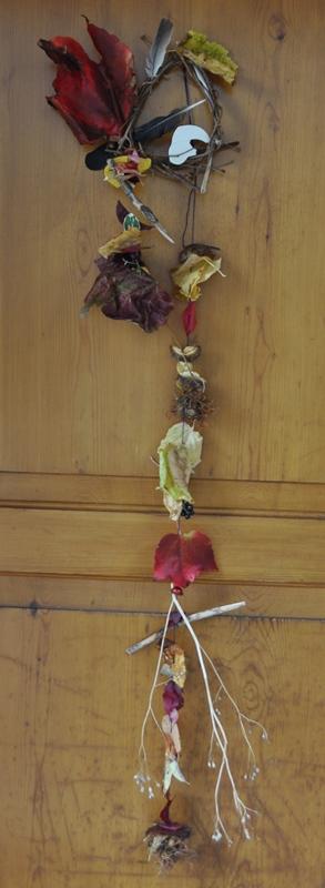 Herbstdekoration an der Eingangstüre