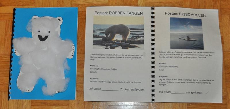Eisbärenparty (2.Klasse): Die Kinder gestalteten ein Eisbärenbuch.