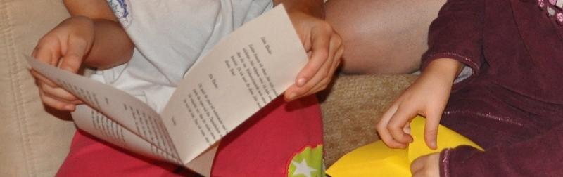 Freudig öffneten die Kinder den Brief vom Samichlaus.