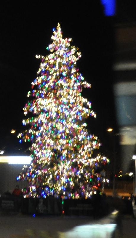 Auf dem Sächsilüüte-Platz thronte ein Baum in allen Farben. Viel zu üppig für meinen Geschmack.