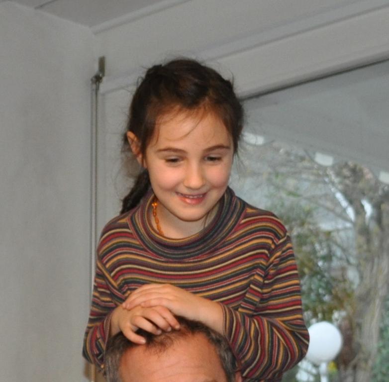 Meine Tochter im Alter von sechs Jahren am 14.Dezember 2014.