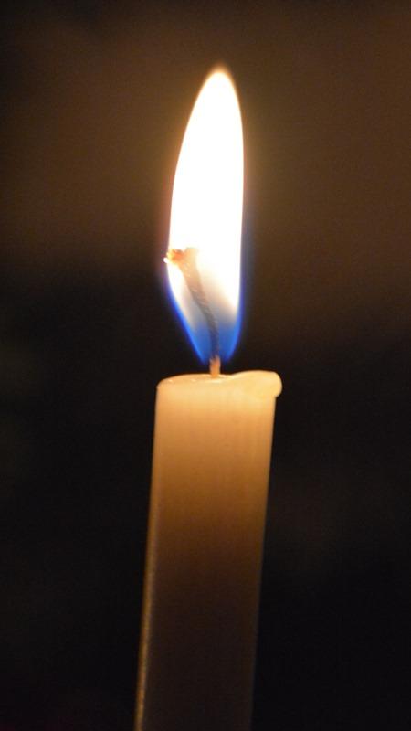 An unserem Lichterbaum brennen weisse Kerzen mit Wünschen. Eine Kerze brennt jedes Jahr für Frieden und Toleranz auf Erden.